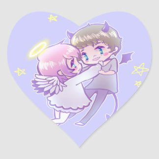 Angel x Demon Luv Sticker