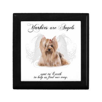Angel Yorkie Box Small Square Gift Box