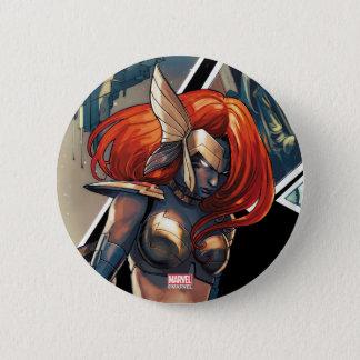 Angela Comic Montage 6 Cm Round Badge