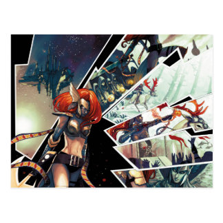 Angela Comic Montage Postcard