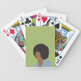 Angela Davis Feminist Bicycle Playing Cards