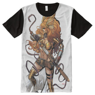 Angela Drawing Sword All-Over Print T-Shirt