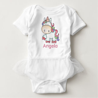 Angela's Personalized Unicorn Gifts Baby Bodysuit
