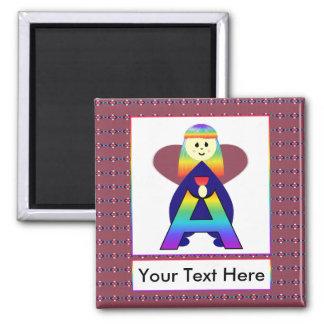 Angelbet Letter A Square Magnet