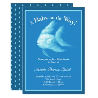Angelfish Baby Shower Card