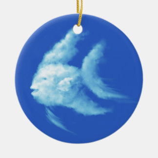 Angelfish Ceramic Ornament