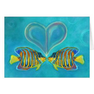 """Angelfish Love"" Greeting Card - Art by Charis D"