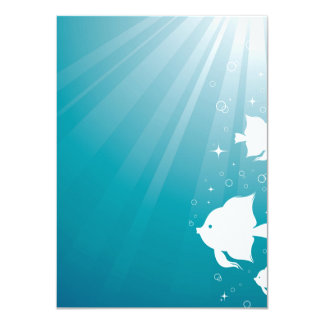 Angelfish Swimming in Sunbeam Card
