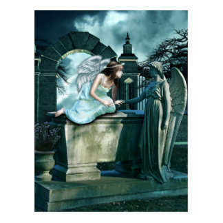 Angelic Curiosity Postcard