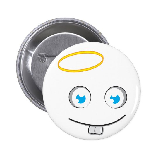 Angelic expression smile button