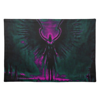 Angelic Guardian Purple and Teal Placemat