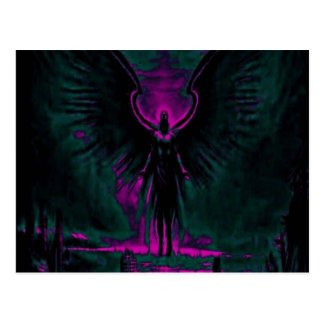 Angelic Guardian Purple and Teal Postcard