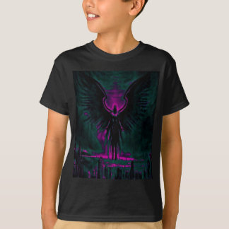 Angelic Guardian Purple and Teal T-Shirt