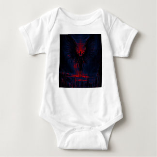 Angelic Guardian Red and Blue Baby Bodysuit