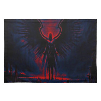 Angelic Guardian Red and Blue Placemat