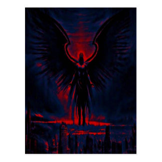 Angelic Guardian Red and Blue Postcard