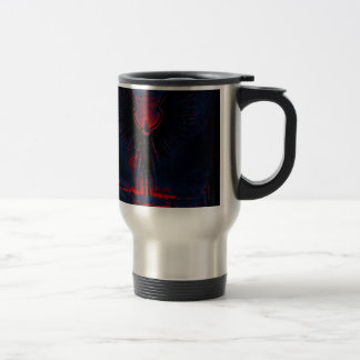 Angelic Guardian Red and Blue Travel Mug