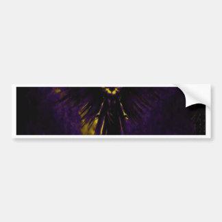 Angelic Guardian Yellow and Purple Bumper Sticker