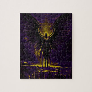 Angelic Guardian Yellow and Purple Jigsaw Puzzle