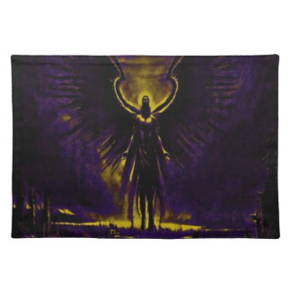 Angelic Guardian Yellow and Purple Placemat
