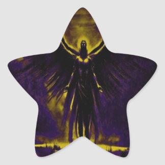 Angelic Guardian Yellow and Purple Star Sticker