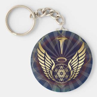 Angelic- Merkaba-Metatron cube Basic Round Button Key Ring
