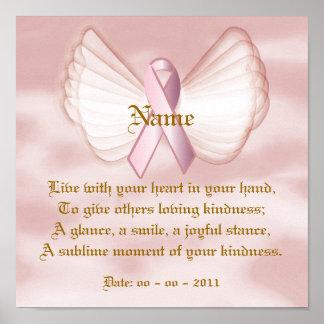 Angelic Pink Ribbon Poem Poster  - Customize