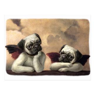 Angelic Pug Cherub Gift Items Postcard