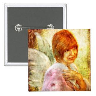 Angelic Repose Pinback Button