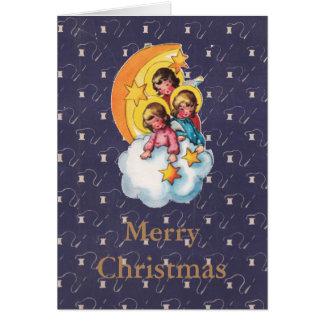 Angelic Retro Christmas Card
