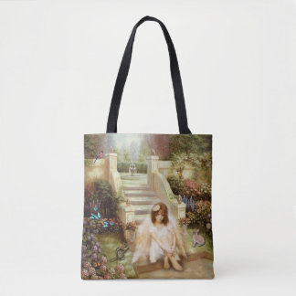 Angelic Serenity Garden Custom All-Over-Print Tote