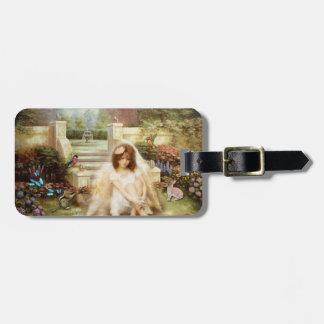 Angelic Serenity Garden Luggage Tag