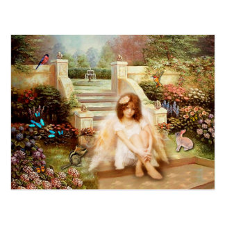 Angelic Serenity Garden Postcard