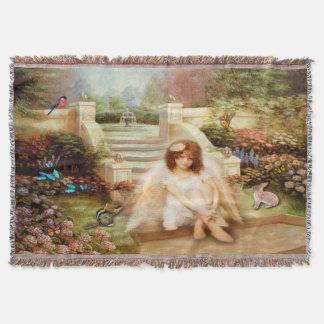 Angelic Serenity Prayer Throw Blanket