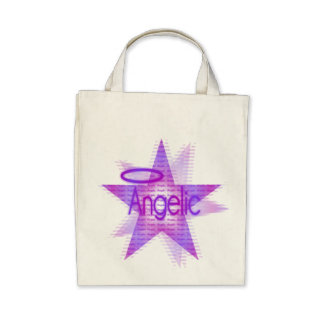 Angelic Star - Organic Grocery Tote Canvas Bag