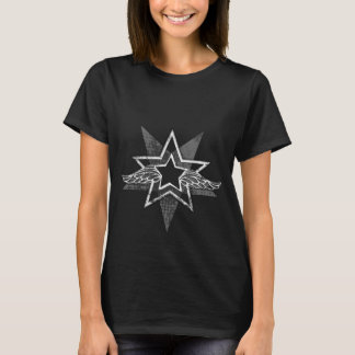 Angelic star with angel wings graphic t-shirt