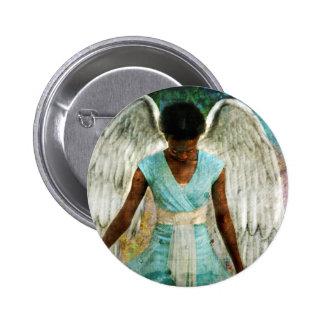 Angelic Thanks 6 Cm Round Badge