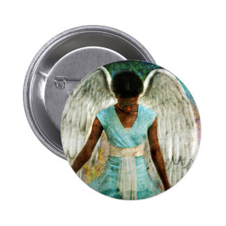 Angelic Thanks 6 Cm Round Badge