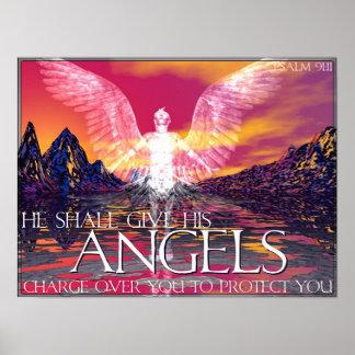 Angelic Transportation Poster