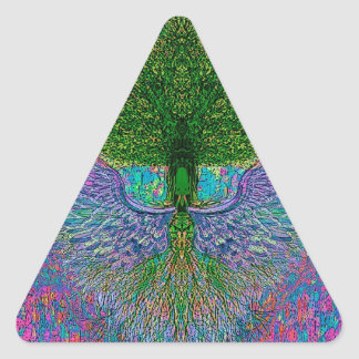 Angelic Tree of Life Triangle Sticker