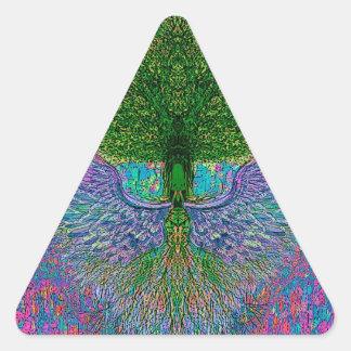 Angelic Tree of Life Triangle Sticker