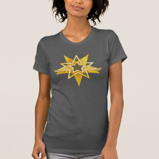 Angelic wings golden star t-shirt