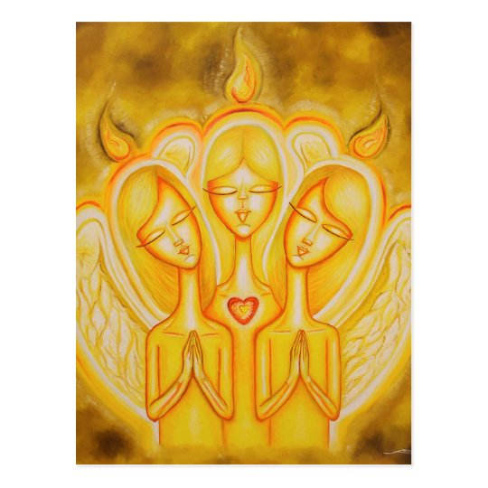 Angelical Fire Postcard