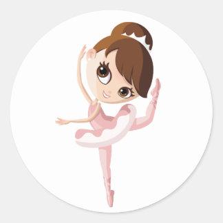 Angelina the Ballerina Round Sticker