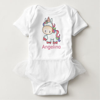 Angelina's Personalized Unicorn Gifts Baby Bodysuit