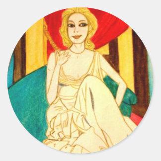 Angelique Classic Round Sticker