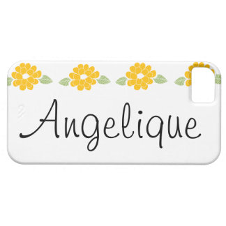 Angelique Name Yellow Flowers iPhone 5 Covers