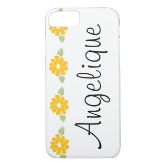 Angelique Name Yellow Flowers iPhone 7 Case