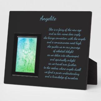 Angelite Crystal Fairy Plaque