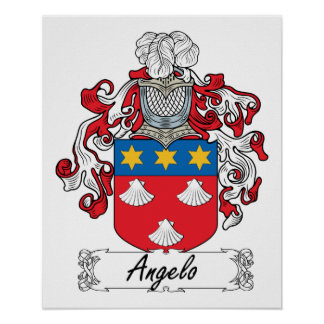 Angelo Family Crest Poster
